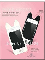 10pcs Lovely Cute Soft Koko Cat Case Soft Silicon Koko Cover Silicon Cat Case for iPhone 4/4S