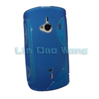 Blue Gel S TPU Case Cover Skins For Sony Ericsson WT19i Live With Walkman
