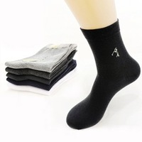 Min Order $10(mixed order) Retail Solid thin summer men's business and leisure cotton fiber  socks&Free shipping