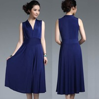2013 fashion dress women plus size maxi dress (L;XL;XXL;XXXL)  significantly thin beach dress  28 colors free shipping CW052