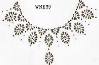 WNE39  Neckline designs rhinestone transfer