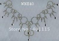 WNE40  Neckline designs rhinestone transfer