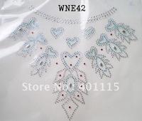 WNE42  Neckline designs rhinestone transfer