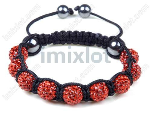 Free Shipping Newest Trend 10mm Crystal Disco Beads With Magnetite Shamballa Bracelet [YWSB7-2*10]