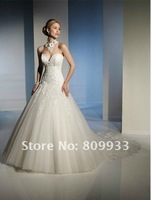 Boutique luxury fashion classic European-style palace royal style sexy Bra Qi trailing wedding wedding lace