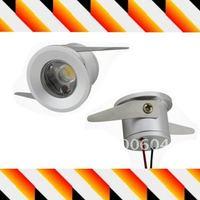 Mini spot led light 1W cabinet lights ceiling lamp bulb 85-265v AC Warm white & White for choice