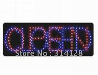 LED open sign (model NO:HSO0008) 206LED (R:91pcs; B:115pcs) 5PCS