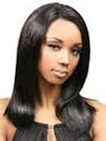 Free Shipping  New Stylish   Black   Long Straight Lady's Fashion Sexy  Party Cosplay  Synthetic Hair  Wig/Wigs