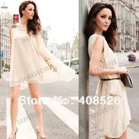 New Sexy Korea Women's Off Shoulder Top Mini Dress Long Tops Hot Multi Color free shopping 3203
