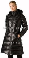 Free shipping ~  fashion 1pcs/lot  Women's black colour hooded duck down jacket coat warm winter jacket hoodies #M9055