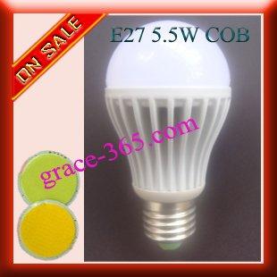 FREE SHIPPING E27 5.5W MCOB LED Bulb Lamp buy DHL(China (Mainland))