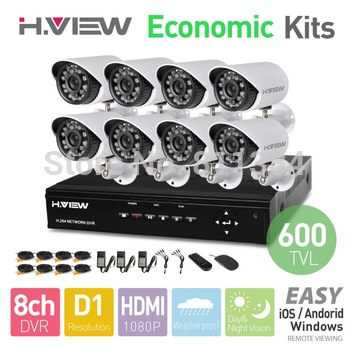 8CH IR Outdoor Weatherproof Surveillance CCTV Camera Kits Home Security 8ch DVR Recorder Systems HDD Sells Seperately