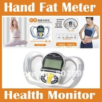 Digital Body Meter Health Monitor Fat Analyzer fat scale BMI Mass Index Handheld Calorie hand fat meter free shipping
