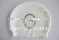 100% soft silicone swimming caps with logo printed