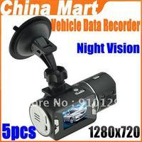 New 720P 2.0'' TFT HD Car Dual Camera Digital Video Recorder Camcorder Night Version Express 5pcs