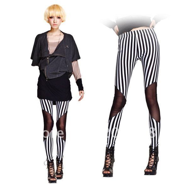 Zebra Stripe Leggings 120