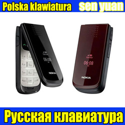 2720 Unlocked Original Nokia 2720 cell phone one year warranty Russian Poland keyboard Free shipping(China (Mainland))