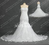 невеста элегантный реальные без бретелек Греческий стиль свадебное платье империи rw250
