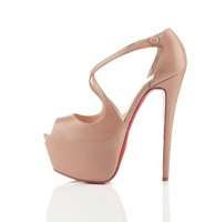 star style,fashion high heel shoes,16cm heels ,5cm platform,sandal,genuine leather!size eur 34 to 46, free shipping!hot!