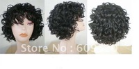 Women's hair wig short black curly Very chic trend queen wigs