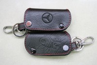 Free Shipping wholesale Genuine Leather Car Key Holder Case Keychain Wallet Bag, Leather Car Keyring Cover #126
