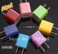 New Wholesale Colorful US Mini Home AC Wall Charger USB Adapter For iPhone 3G 3GS 4G iPod Touch,1000pcs/Lot Free Shipping by DHL