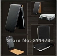 Fashion!High Quality Leather Flip Skin Case Cover For iphone 4 4G by  Free Shipping
