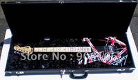 (Free shipping) EDDIE VAN HALEN CHARVEL ART SERIES RED BLACK ANAHEIM Electric Guitar+case