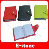 Free Shipping 3pcs/lot Lovely PU leather Business Name Credit ID Card Purse Wallet bag case 3 color