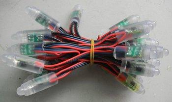promotion!!!12mm RGB full LED pixel module (WS 2811IC) ;DC5V input,50pcs a string;IP68;led module