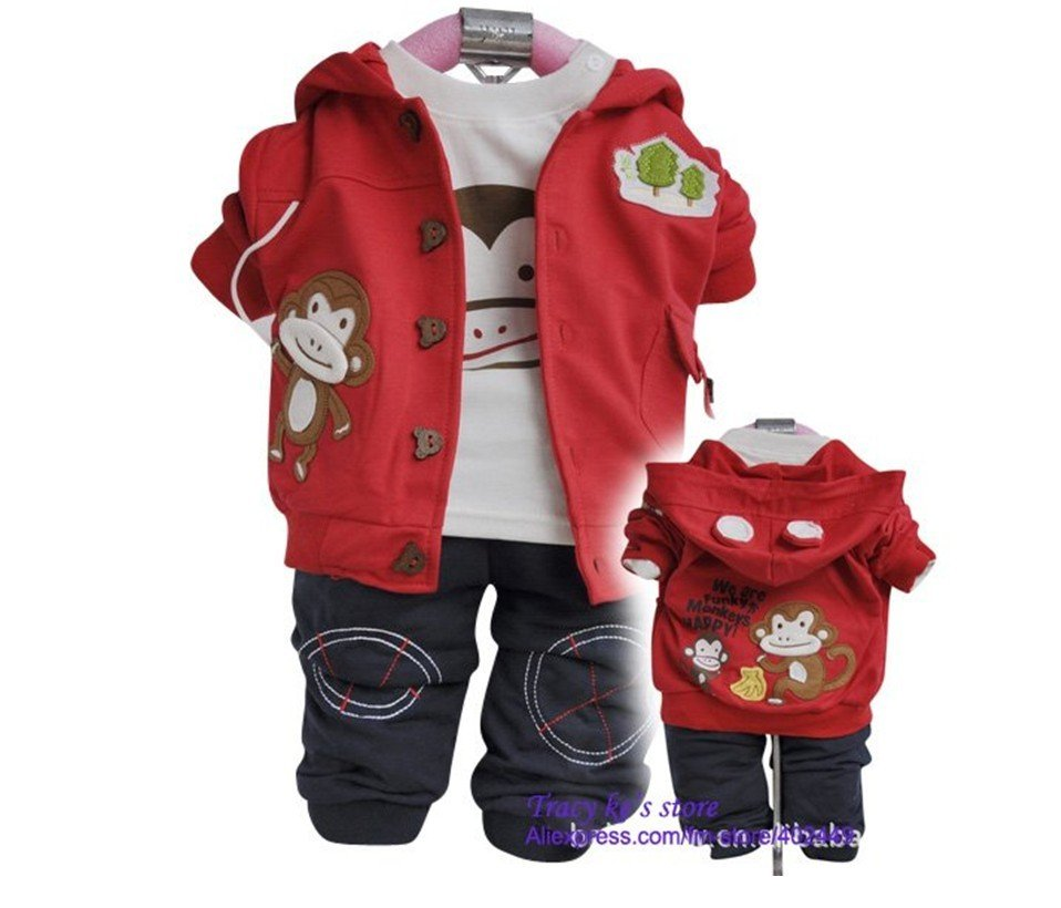 Baby clothes children clothes 3sets lot baby wear baby clothing set