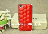 10pcs Lambskin for  iPhone 4  4S shell  for iphone  set Rhinestone LEATHER HOLSTER