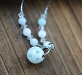 Hollow out ball jade necklace MXL5280 fashion lady's necklace,meaningful necklace