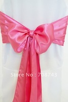 Free shipping -  bubble gum pink satin chair cover sash /satin sash