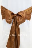 Free shipping -  copper satin chair cover sash /satin sash
