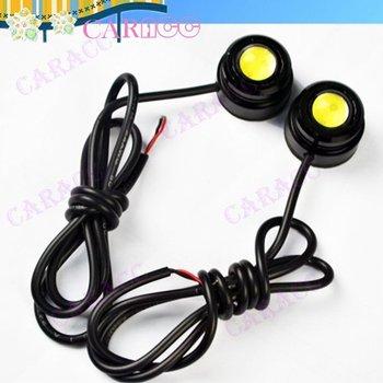 Powerful 12V1.5W X 2 Car light eagle eye lamp Tail Light White Color 2655