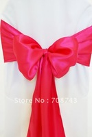Free shipping -  fushia satin chair cover sash /satin sash