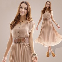 Beautiful dress summer snow spins short sleeve of cultivate one's morality dress