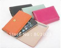 wholesale /retailer 2011 New Arrival Korea ardium wallet for iphone 4 mobile phone  case card holder wallets