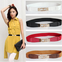 Free Shipping 2012 Summer cummerbund one-piece dress belt female  decoration elastic thin belt cronyism
