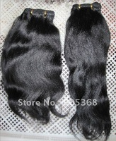 natural colour no dye can dye to any colou indian remy hair relaxed hair machine made weft AAAgrade for woman wholesales support