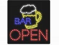 Bar LED open sign (model NO:HSO0025) 171LED (R:65pcs;B:33pcs;Y:52pcs;W:21pcs) 5PCS