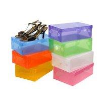 Transparent shoe box, thickened plastic shoebox, multiple choice Free shipping 10 sizes