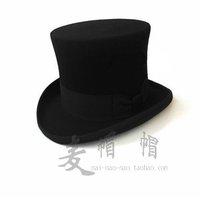 100% Wool felt Fedora, Wool Felt Hat, England Style Conjouring/Magic Perform Hat,