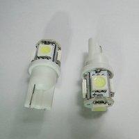 Wholesale Freeship White T10 SMD5050 5 LED Car Light Interior Lamp Automobile Bulbs Car Wedge Indicator Light