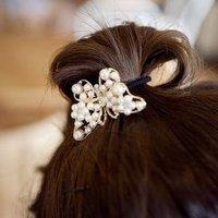 Fashion Pearl Bowknot Hair Jewelry Headwear A5R19 Free Shipping