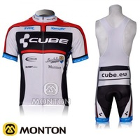 2012 New CUBE  Sportswear Cycle Clothes Short Sleeve clothing Bicycle Cycling Wear bike Cycling Jersey+ Bibs Shorts suit