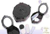 New fashion rose contact lenses box & case /  lens Companion box / Wholesale