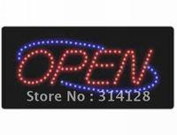 LED open sign(HSO0046) 138LED (R:91pcs;B:47pcs) +Adapter+hanging chain 3PCS