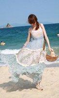 Broken beautiful snow spins condole belt beach joining together dress